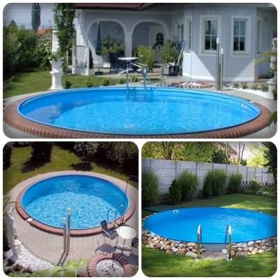 Milánó kör alakú medencék
