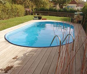 toscana ovális alakú medence