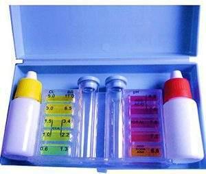 Vízelemző, folyadékos pH & Cl /Br